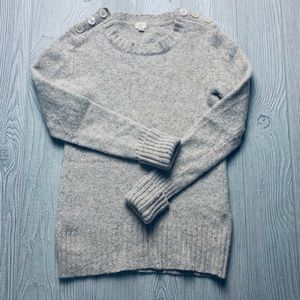 J Crew Button Detail Sweater